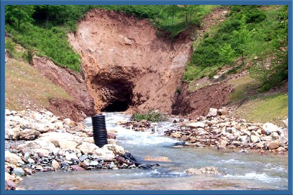 Audenreid Tunnel showing blowout damage