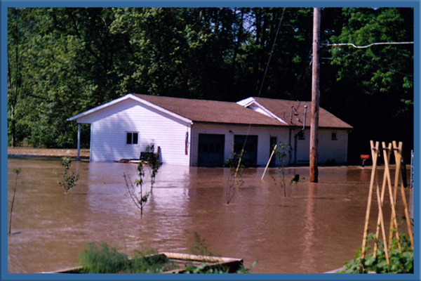 The Susquehanna River flooding 2006