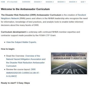 Cover page for the DRR webpage