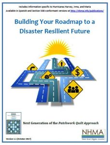 Cover page for the publication Building Your Roadmap to a Disaster Resilient Future