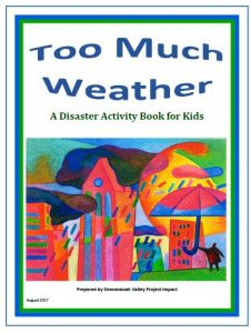 Cover page for the Disaster Activity Book for Kids