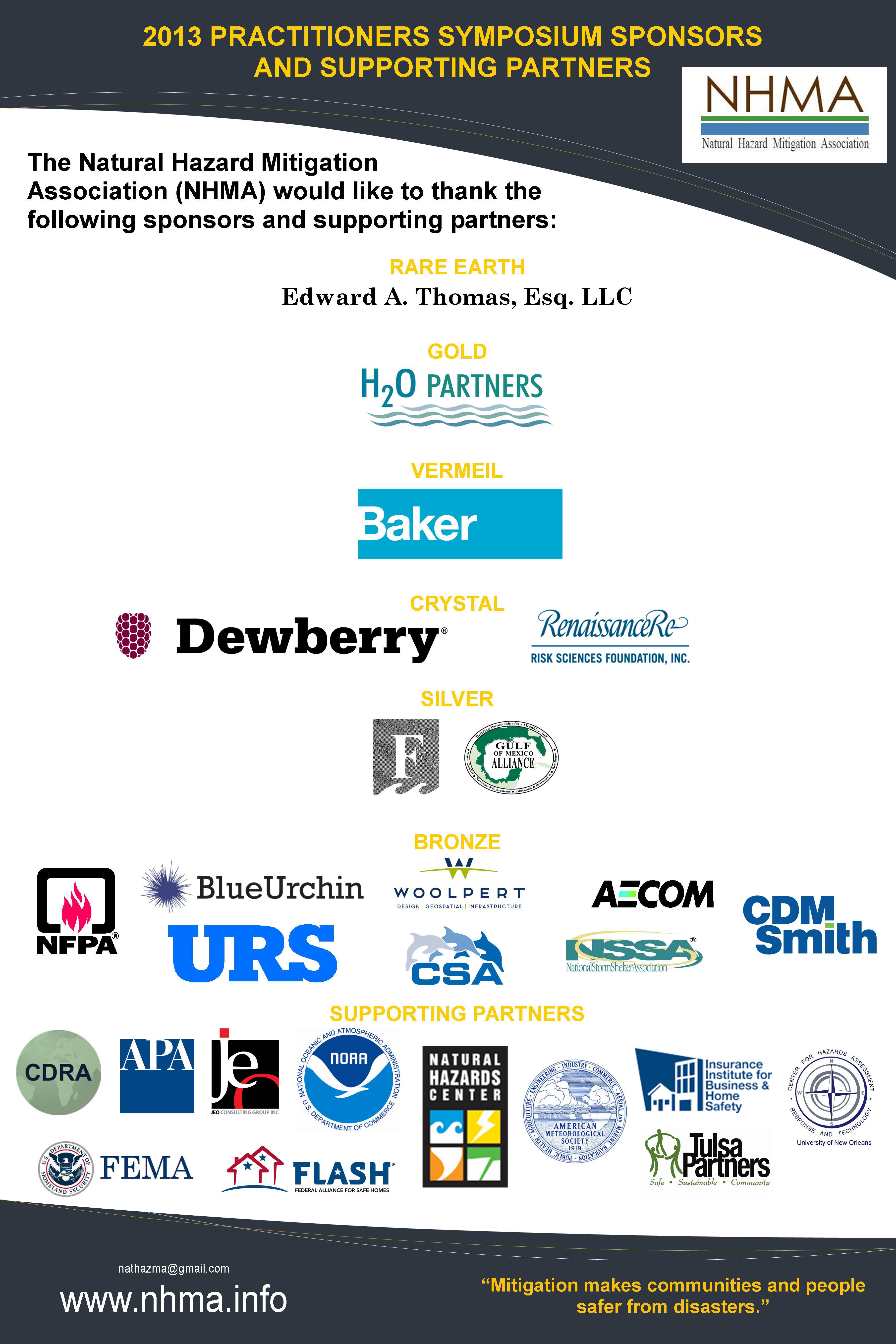 2013 Sponsors | NHMA