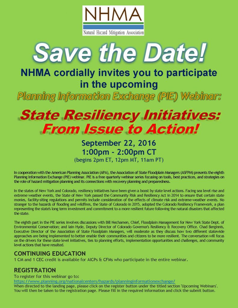 webinar-flyer-pie-state-resiliency-initiatives-from-issue-to-action-webinar-9-22-16-green