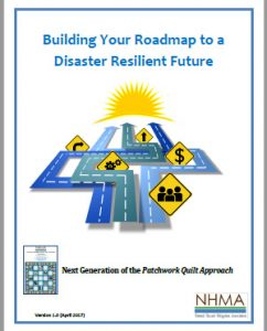 Cover page for the Building Your Roadmp to a Disaster Resilient Future publication.