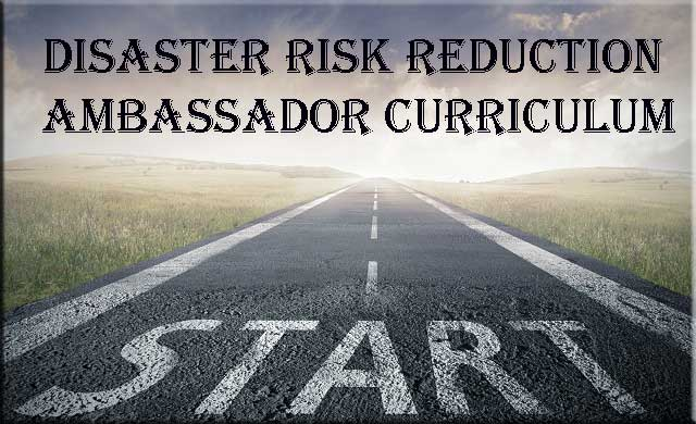 Disaster Risk Reduction Ambassador Curriculum; image showing a start line on a highway road.