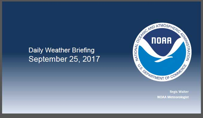 NOAA Daily Briefing logo with link to briefing page.